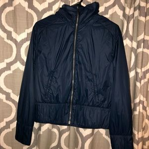 Lululemon Navy Bomber Jacket Packable Hood